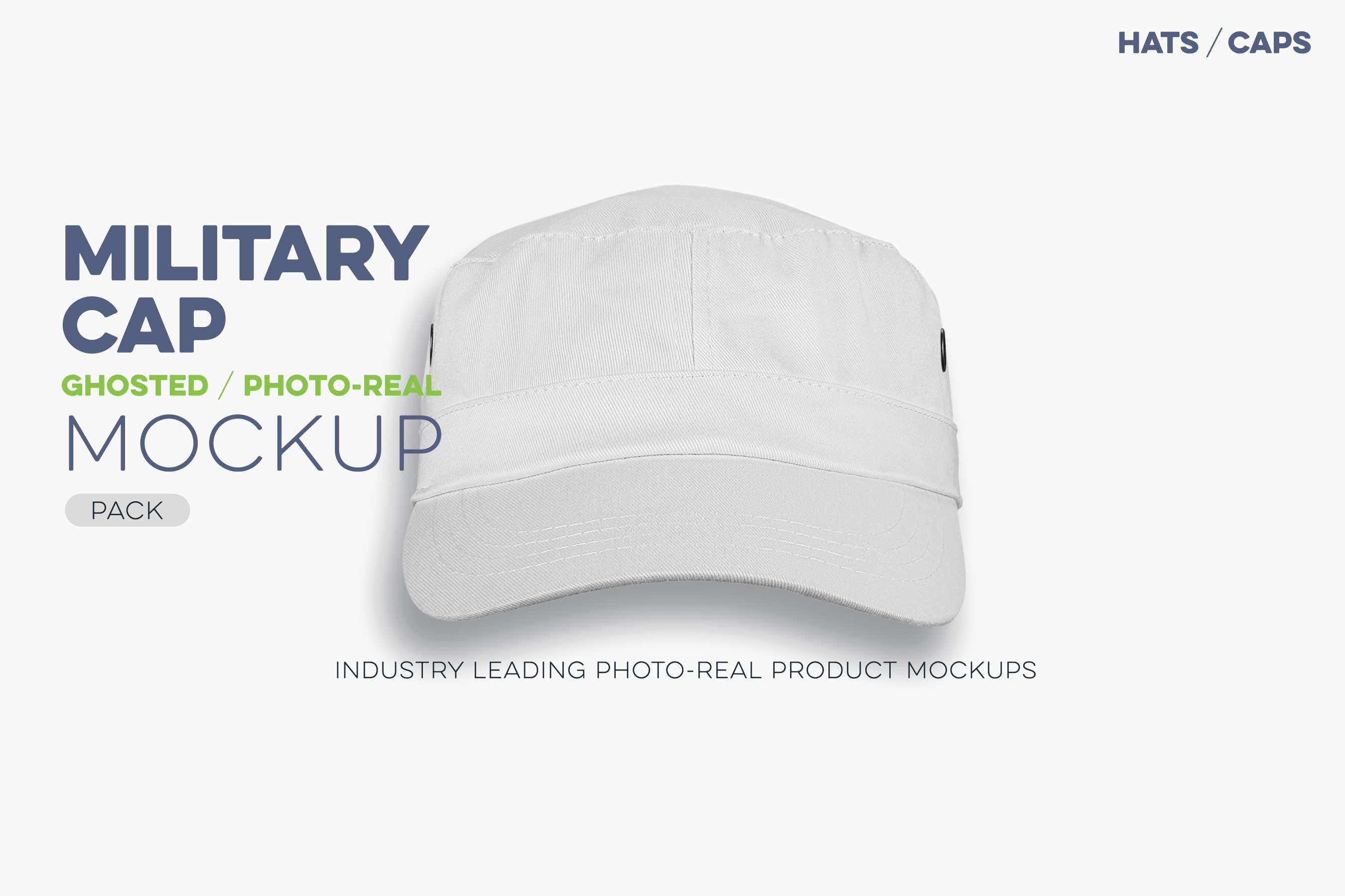 ghosted military cap mockup
